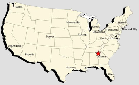 United States Map Vacation Spots