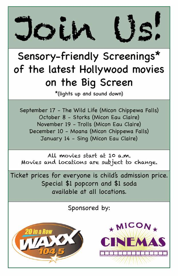 Sensory Friendly Movie Screenings Schedule - WAXX